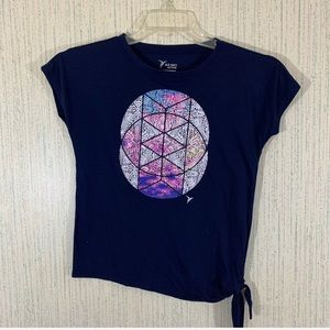 Old Navy Blue Active Graphic Tee Girls Size Large
